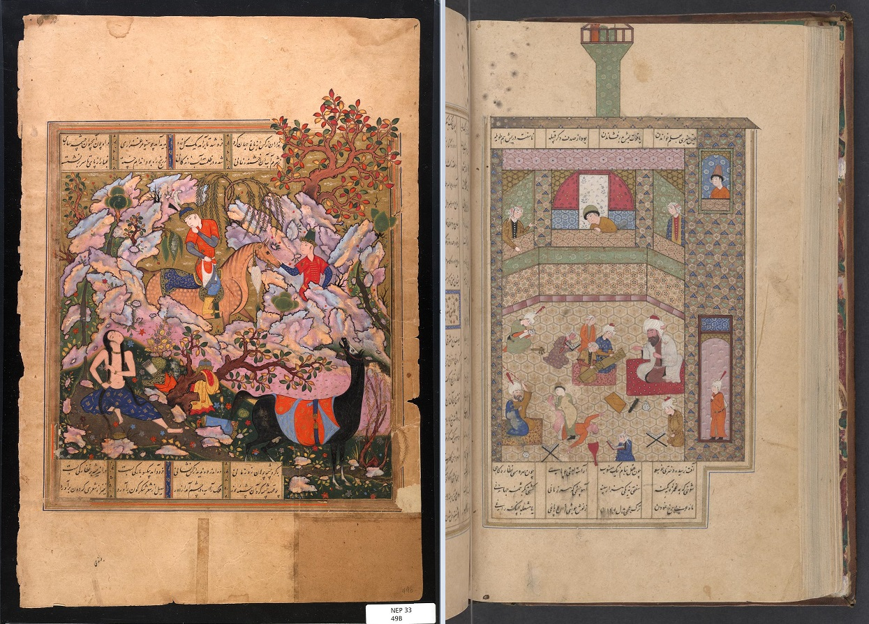 Two examples of illustrations in Persian texts